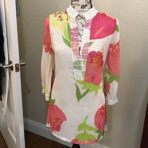 Lilly Pulitzer White and Green Tunic